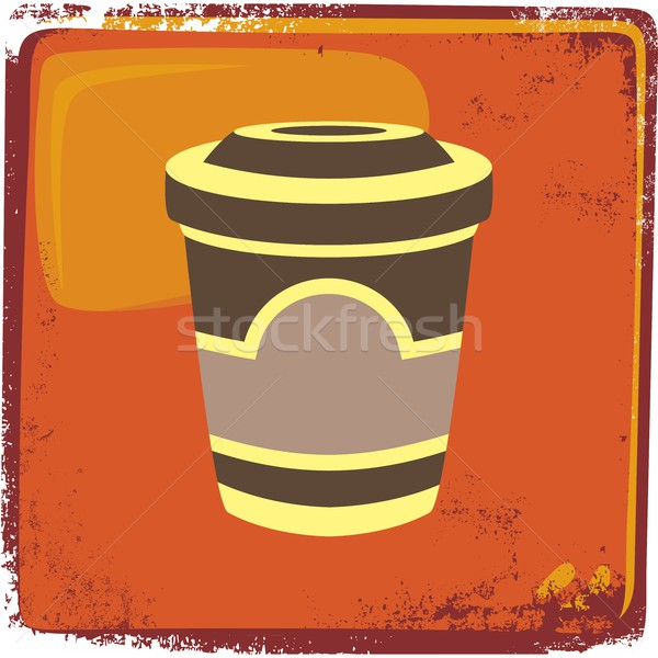 food and drink theme cappuccino Stock photo © vector1st