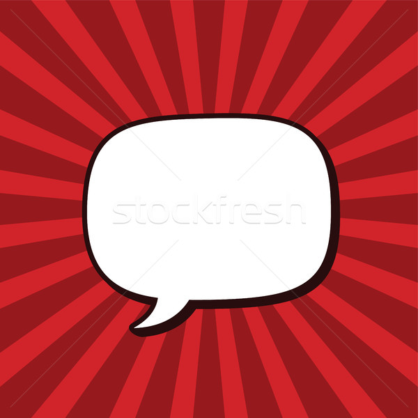 Chattare bolla retro cartoon vettore arte illustrazione Foto d'archivio © vector1st