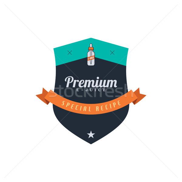 personal vaporizer e-cigarette e-juice liquid label badge Stock photo © vector1st