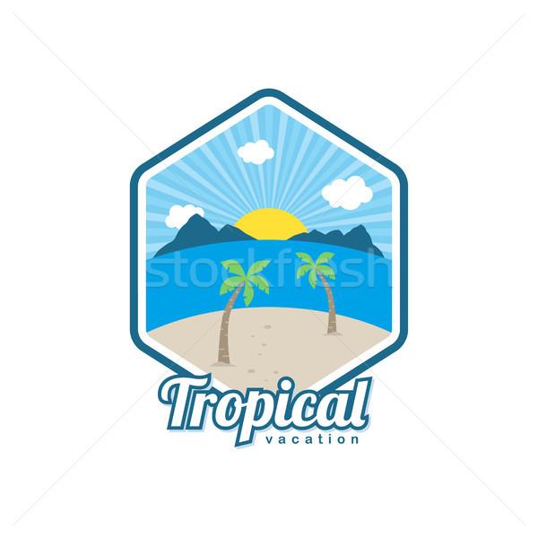 Plaży czasu wektora sztuki Zdjęcia stock © vector1st