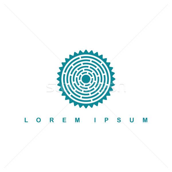 Kör őslakos törzs felirat szimbólum logo Stock fotó © vector1st