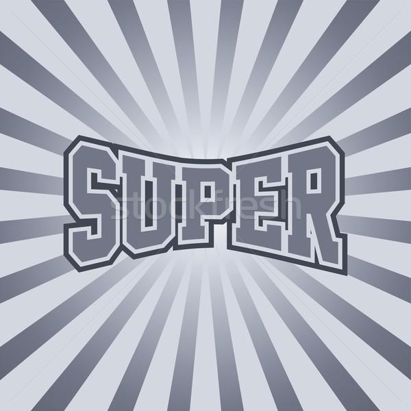 Süper bağbozumu sanat vektör grafik Stok fotoğraf © vector1st