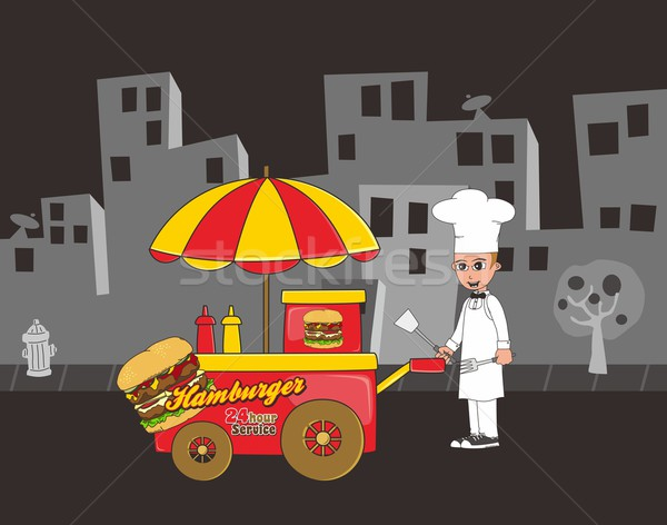 food and drink cartoon theme Stock photo © vector1st