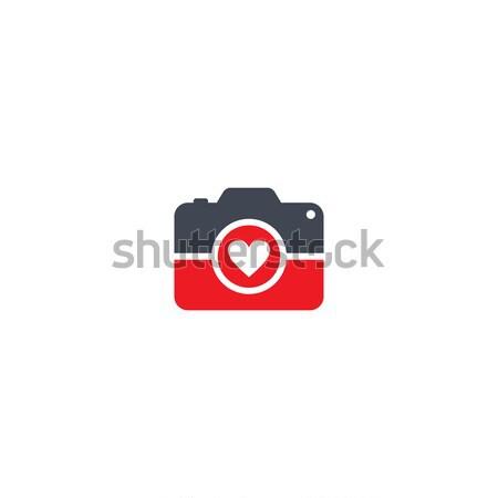 Fotografía cámara vector arte ilustración Foto stock © vector1st