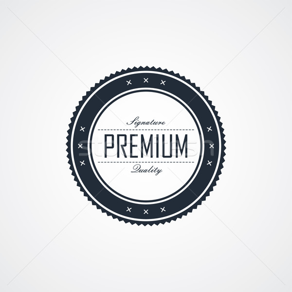 premium signature label theme Stock photo © vector1st