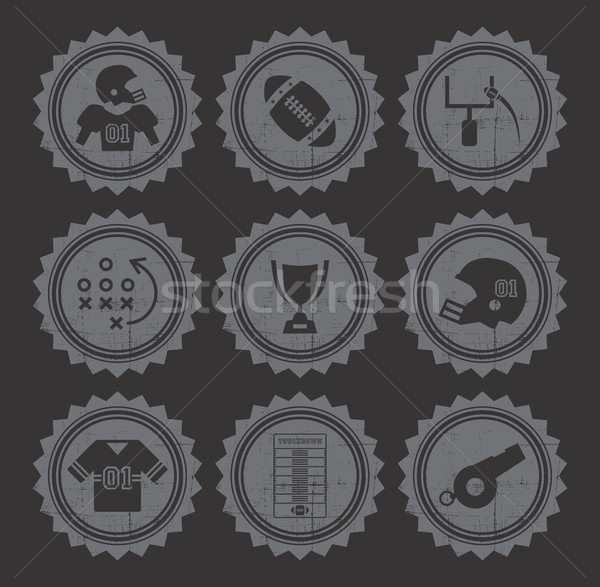 Amerikaanse voetbal vector grafische kunst ontwerp Stockfoto © vector1st