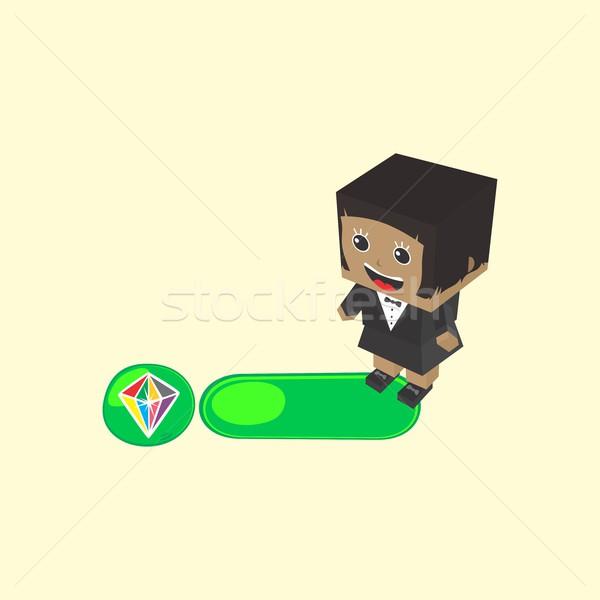 Karakter játék tőke alkotóelem vektor művészet Stock fotó © vector1st