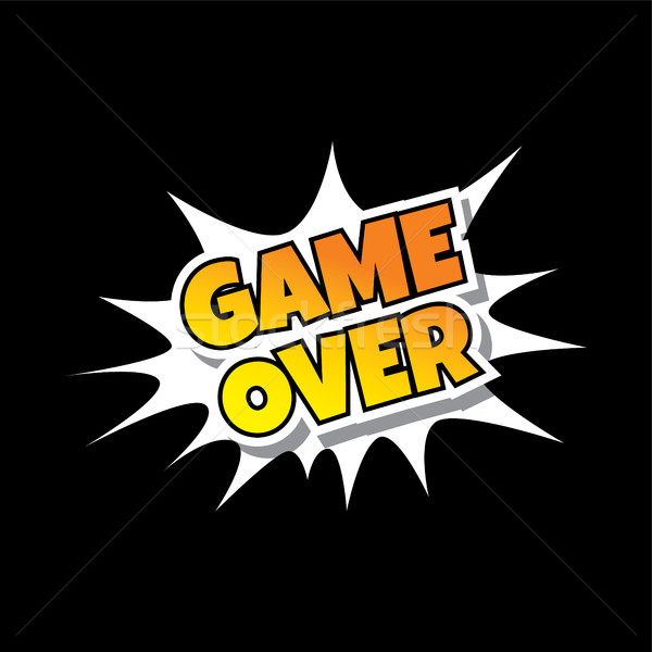 Game Over - Comic Speech Bubble Cartoon Game Assets Stock photo © vector1st