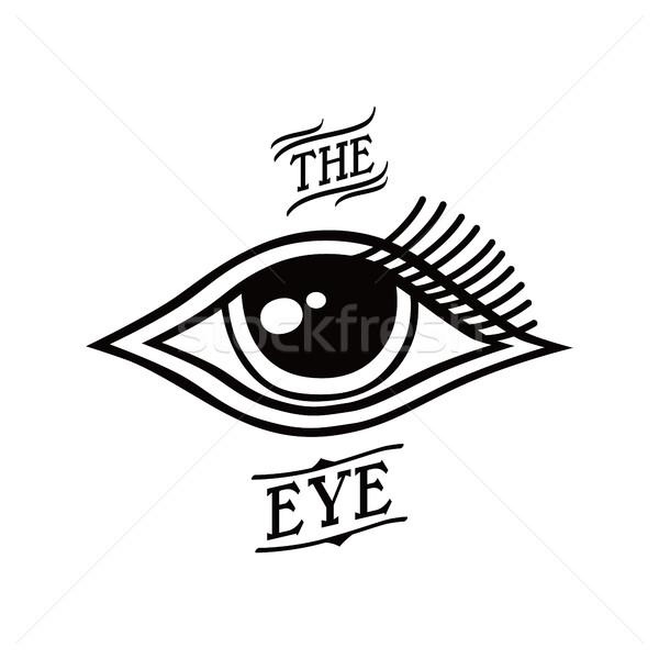 eye symbol theme Stock photo © vector1st