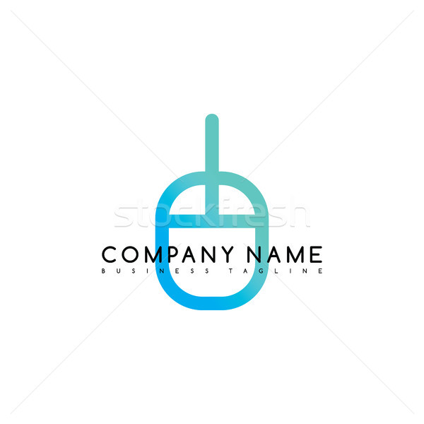 mouse click brand company template logo logotype vector art Stock photo © vector1st
