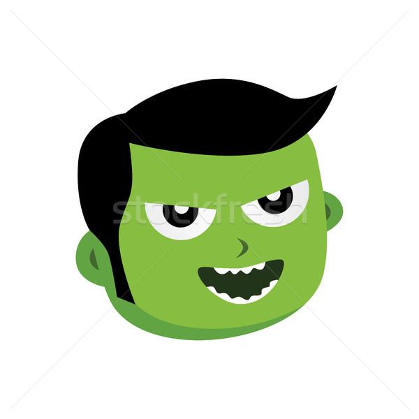 Vert zombie monstre personnage vecteur art Photo stock © vector1st