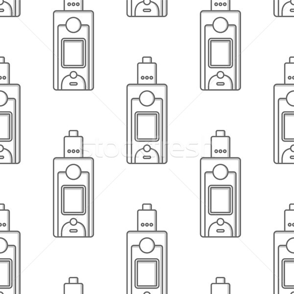 seamless pattern electronic cigarette vaporizer vector Stock photo © vector1st