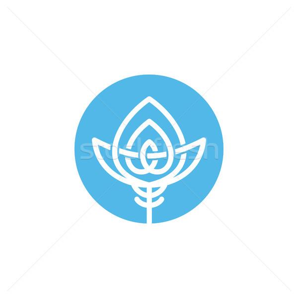 круга форма стиль икона логотип вектора Сток-фото © vector1st