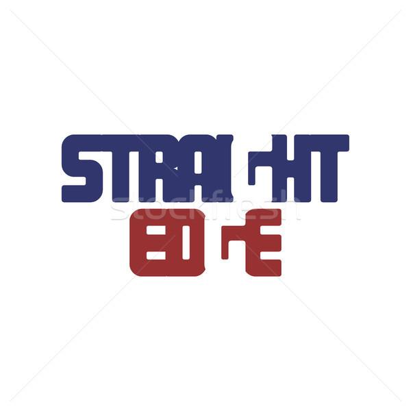 алфавит искусства логотип красный синий Сток-фото © vector1st
