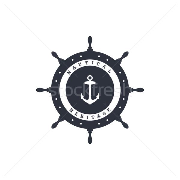 Matróz horgony óceán tengerészeti vektor művészet Stock fotó © vector1st