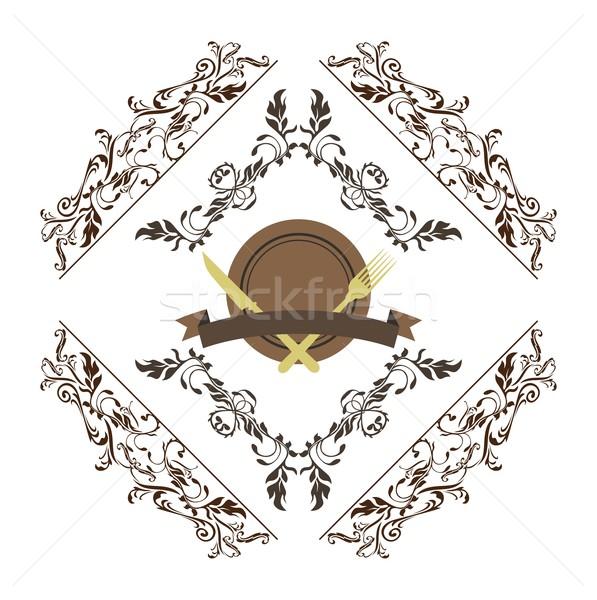 étel ital szerkeszthető vektor grafikus művészet Stock fotó © vector1st