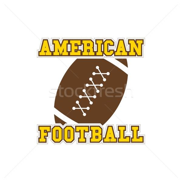 American fotbal vector grafic artă ilustrare Imagine de stoc © vector1st