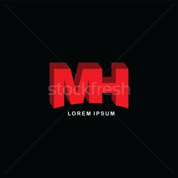 Rosso lettera marca logo modello Foto d'archivio © vector1st