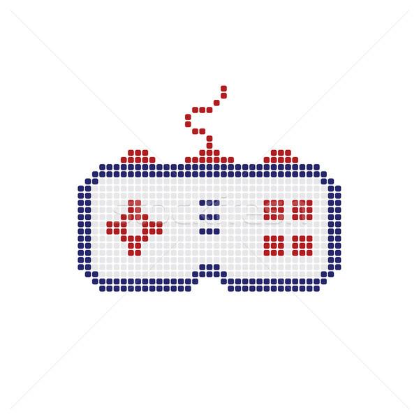 Bedieningshendel spel troosten logo Stockfoto © vector1st