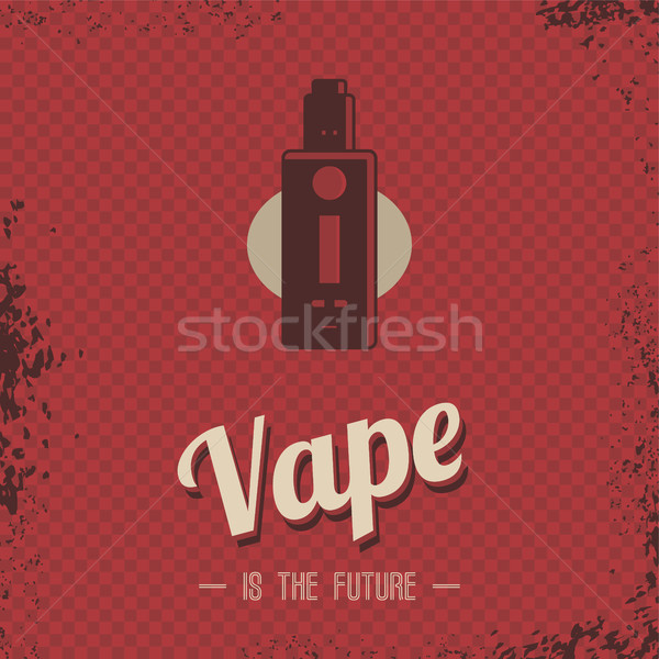 レトロな 電気 たばこ 蒸気 生活 ベクトル ストックフォト © vector1st