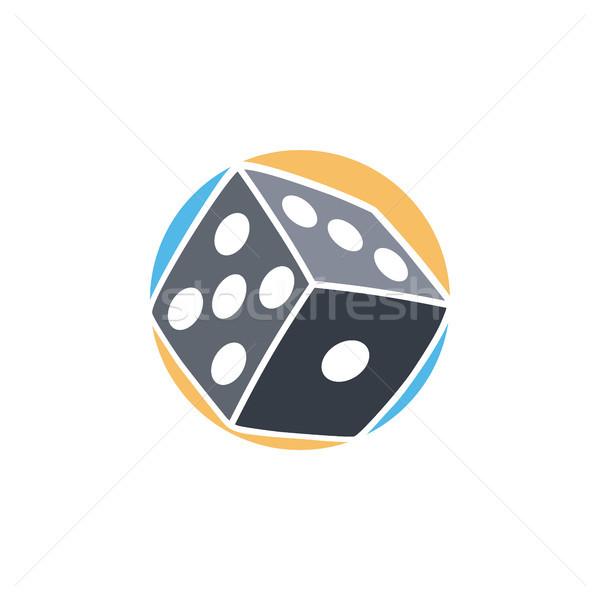 gamble dice icon simple flat logo vector Stock photo © vector1st