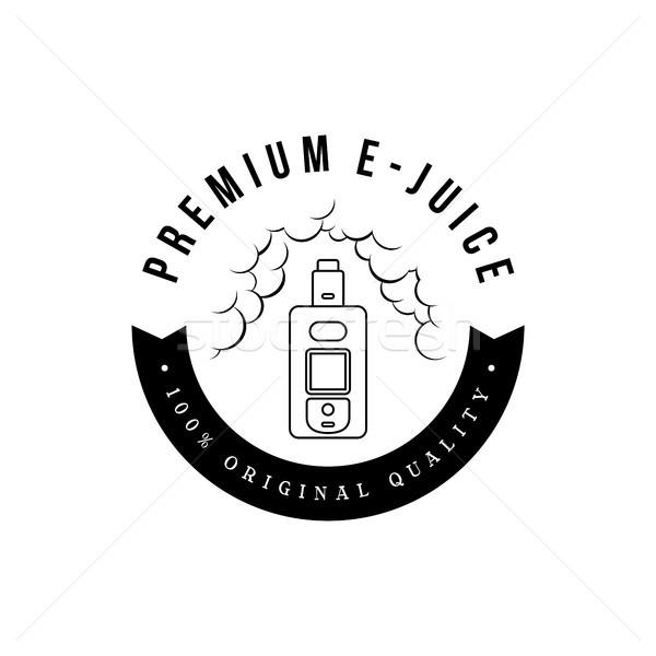electric cigarette personal vaporizer e-cigarette retro label badge Stock photo © vector1st