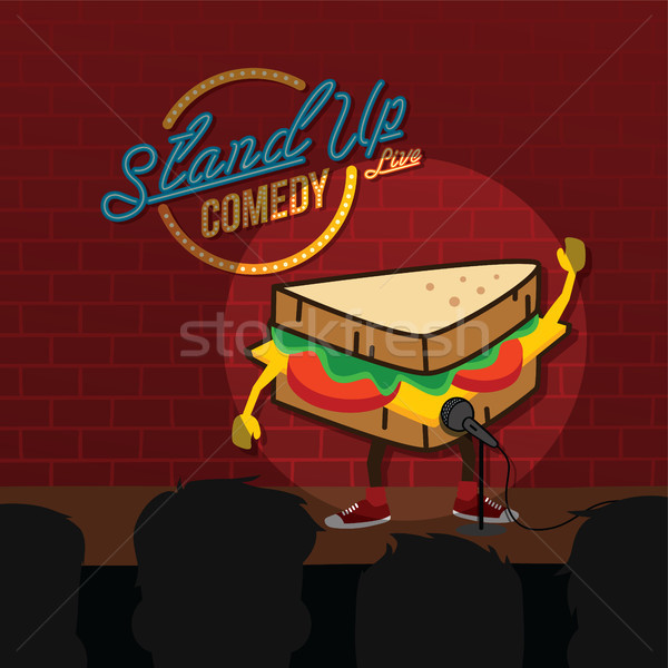 stand up comedy sandwich open mic Stock photo © vector1st