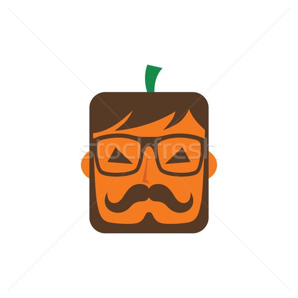 Halloween fickó karakter vektor művészet illusztráció Stock fotó © vector1st