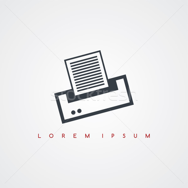 printer computer icon sign logotype Stock photo © vector1st