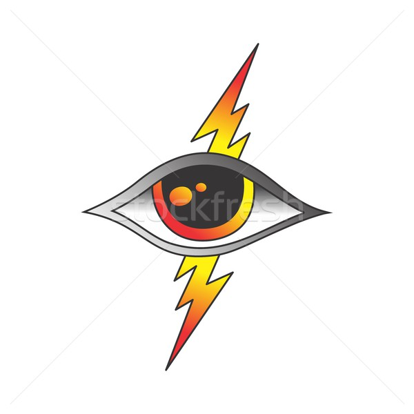 один глаза Бога графических искусства Сток-фото © vector1st
