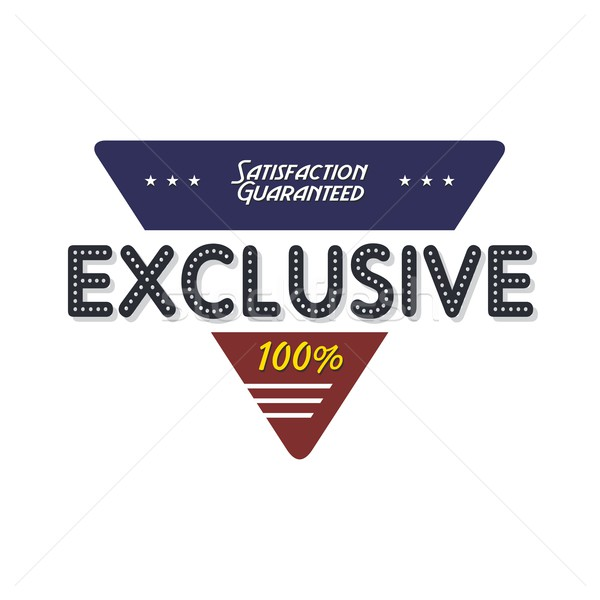 exclusive quality badge Stock photo © vector1st