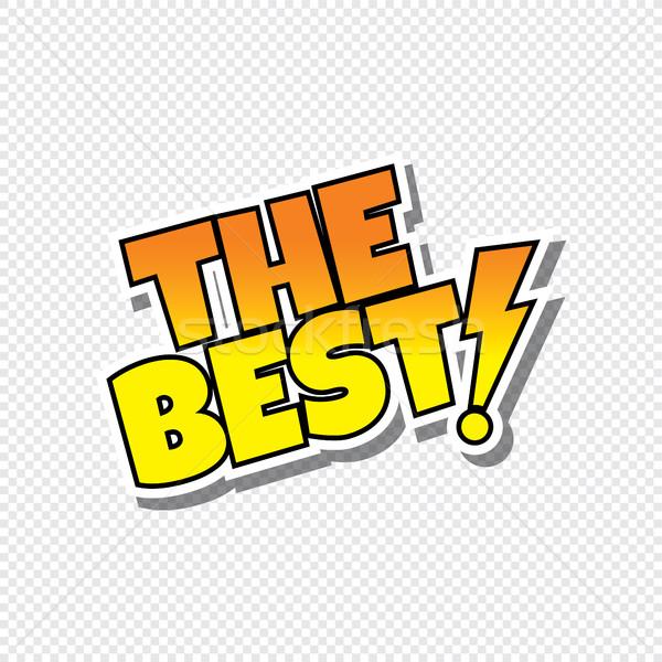 Meilleur cartoon texte vignette vecteur art Photo stock © vector1st