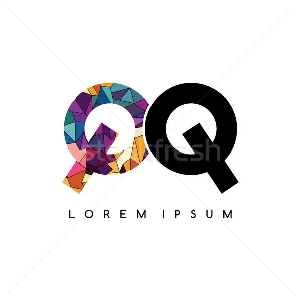 手紙 ロゴタイプ ロゴ 抽象的な カラフル 幾何学的な ストックフォト © vector1st