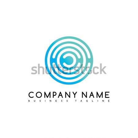 Foto stock: Círculo · logo · marca · plantilla · vector