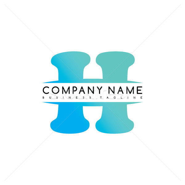 h exclusive brand company template logo logotype vector art Stock photo © vector1st