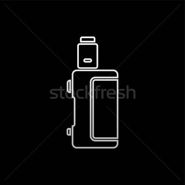 Elettrici sigaretta vapori vita vettore fuoco Foto d'archivio © vector1st