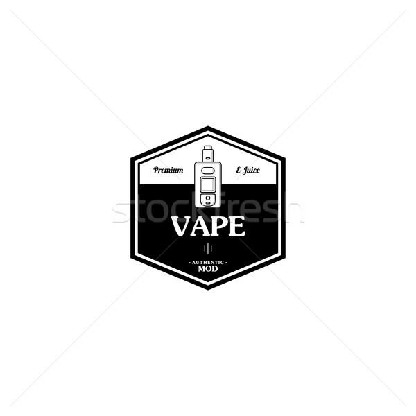Elektrische sigaret persoonlijke retro label badge Stockfoto © vector1st
