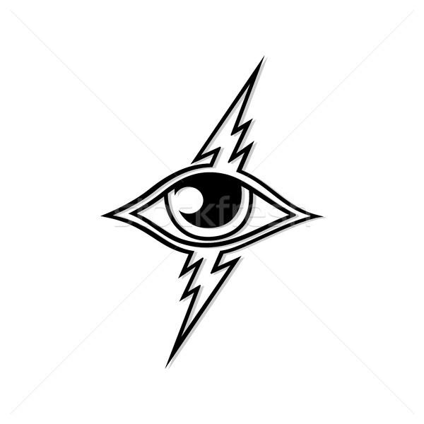 Gök gürültüsü göz vektör sanat logo şablon Stok fotoğraf © vector1st