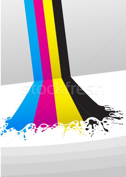 Vonalak terv festék kék fekete hideg Stock fotó © vectorArta