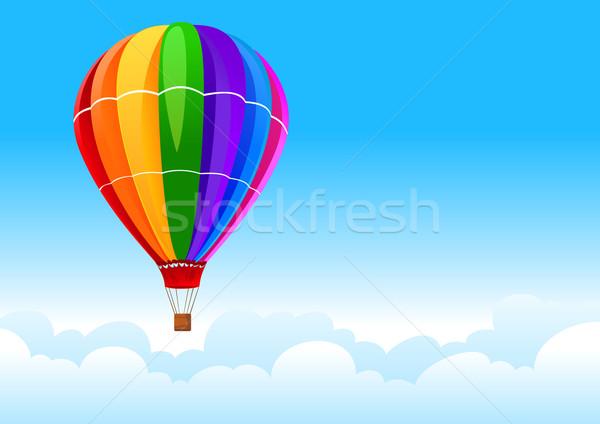 Pallone cielo colore cielo blu rosso nube Foto d'archivio © vectorArta