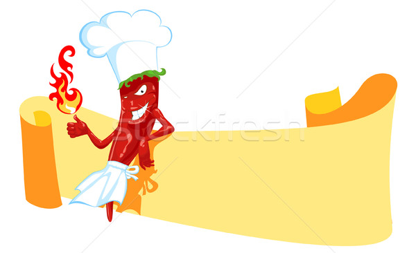 chili chef and banner Stock photo © vectorArta