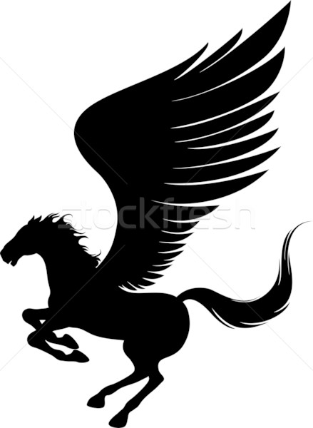 Flying pegasus Stock photo © vectorArta