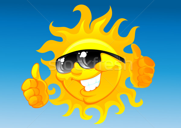 cartoon sun in sunglasses Stock photo © vectorArta