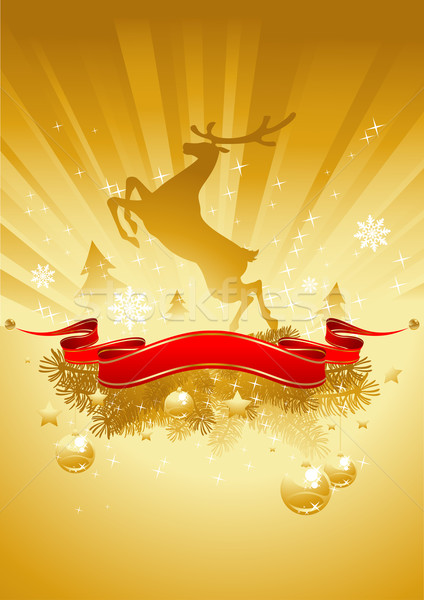 Gold Christmas Card Stock photo © vectorArta