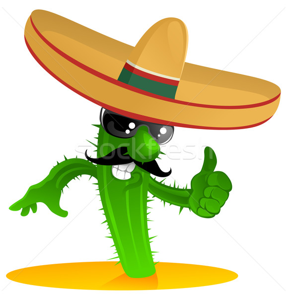Mexican cool cactus sourire été vert Photo stock © vectorArta