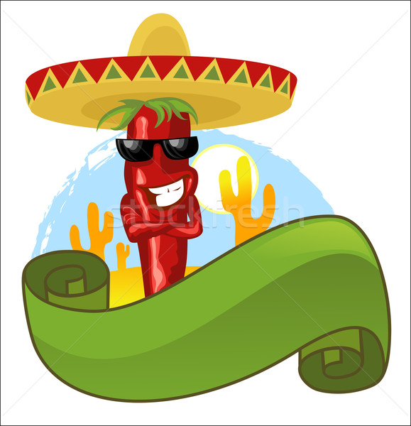 Mexican hot chili Stock photo © vectorArta
