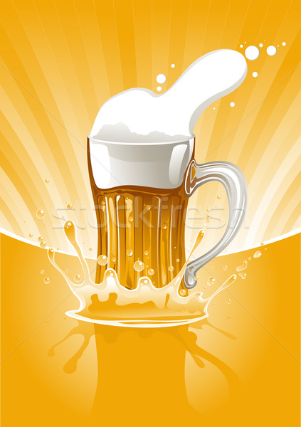 Mug fresh beer Stock photo © vectorArta