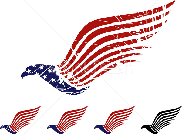 Amerikai sas szimbólum madár zászló csillag Stock fotó © vectorArta