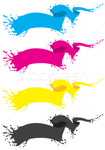 cmyk liquid banner Stock photo © vectorArta