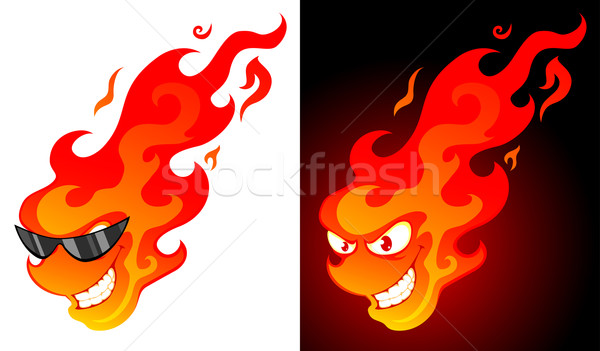 cartoon fire Stock photo © vectorArta